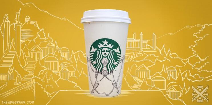 La vida secreta de la sirena de Starbucks mujer maravilla