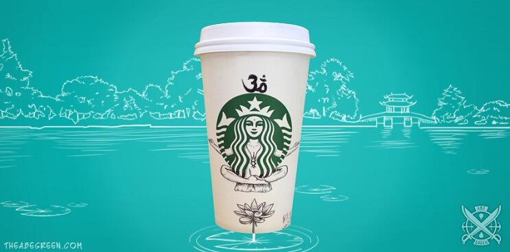 La vida secreta de la sirena de Starbucks yoga