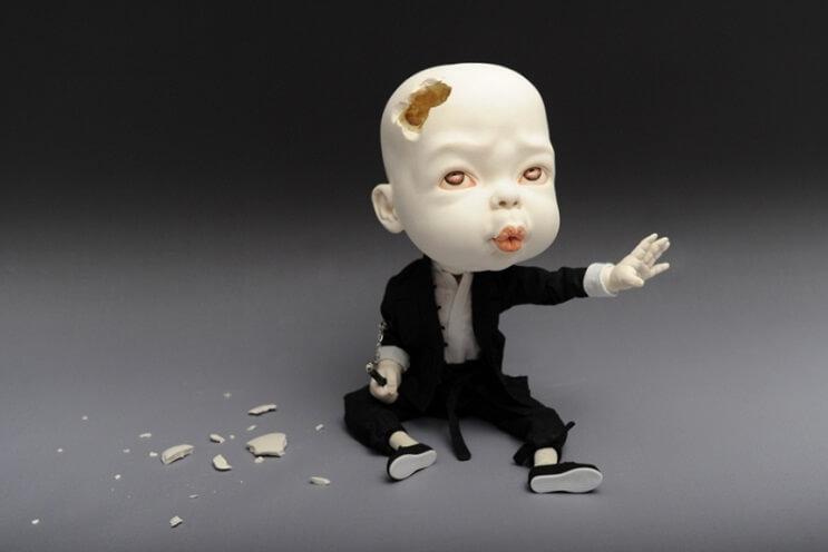 Las extrañas esculturas de cerámica de Johnson Tsang 1
