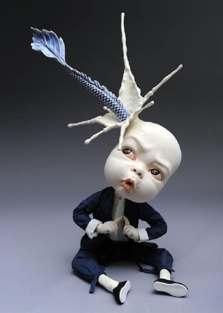 Las extrañas esculturas de cerámica de Johnson Tsang 5
