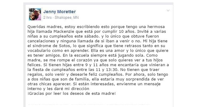 Nadie fue al cumpleaños de su hija y tras un pedido por Facebook  se convirtió en el evento más deseado 10