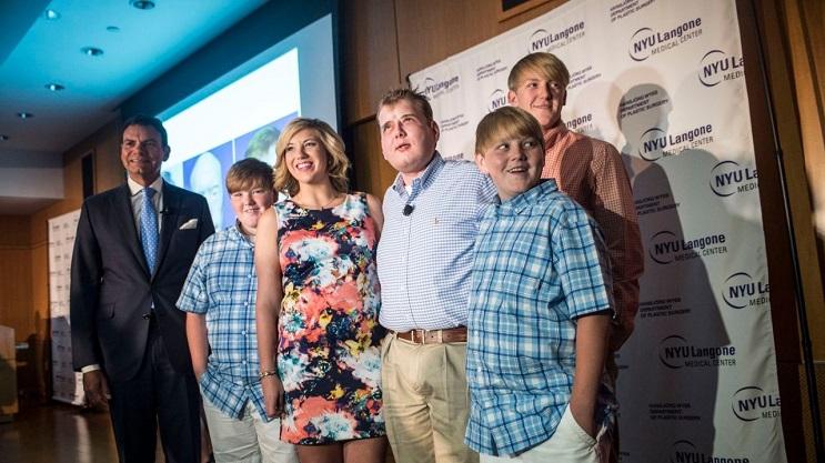 Patrick Hardison transplante rostro familia