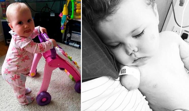 Pequeña luchadora que perdió las extremidades recibe una muñeca muy especial 2