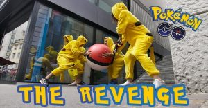 Pikachu sale a las calles a vengarse de los humanos que atrapan monstruos de Pokemón GO