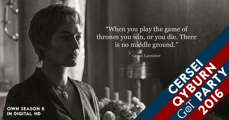 Una campaña política de Game of Thrones para elegir quién ocupará el trono cersei