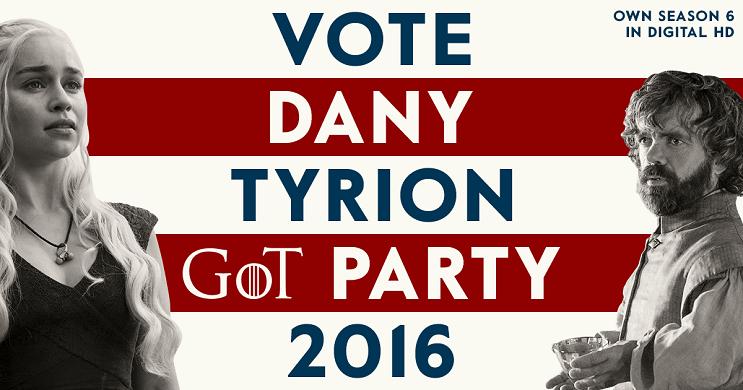 Una campaña política de Game of Thrones para elegir quién ocupará el trono daenerys