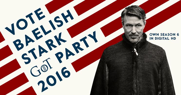 Una campaña política de Game of Thrones para elegir quién ocupará el trono petyr