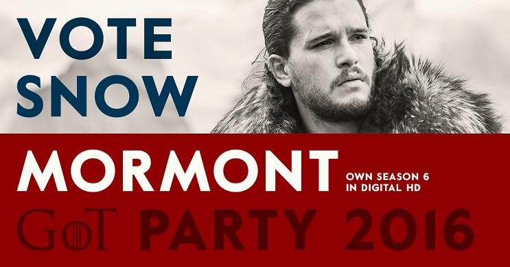 Una campaña política de Game of Thrones para elegir quién ocupará el trono snow