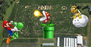 Una granja de Nueva York rinde homenaje a Mario Bros con un enorme laberinto