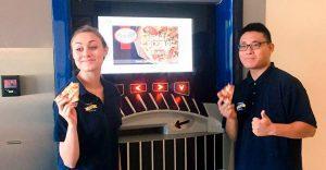 Pizza lista y caliente en cuestión de minutos desde un cajero automático