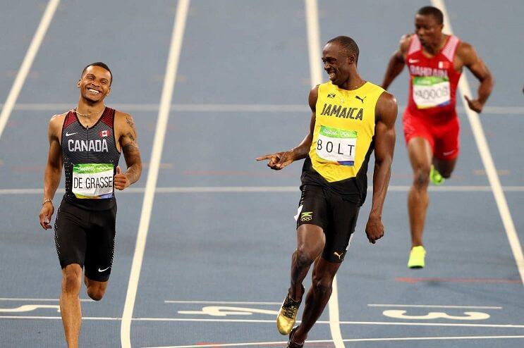 Usain Bolt corriendo Rio 2016