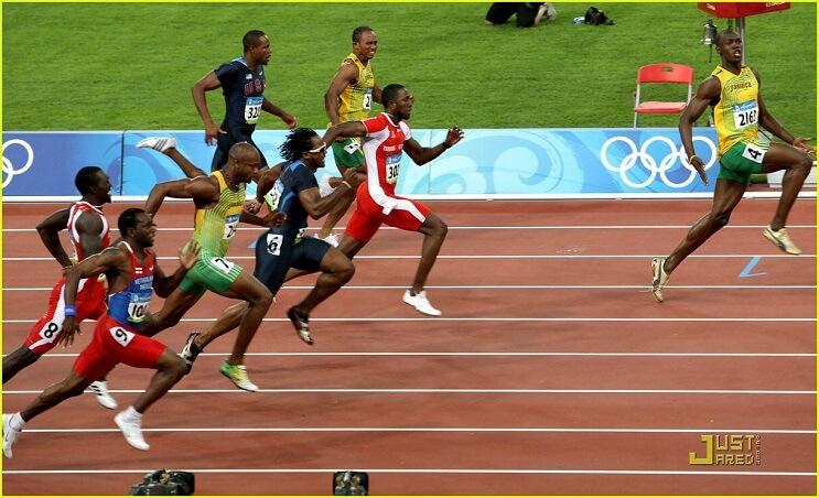 Usain Bolt padres Pekin 2008