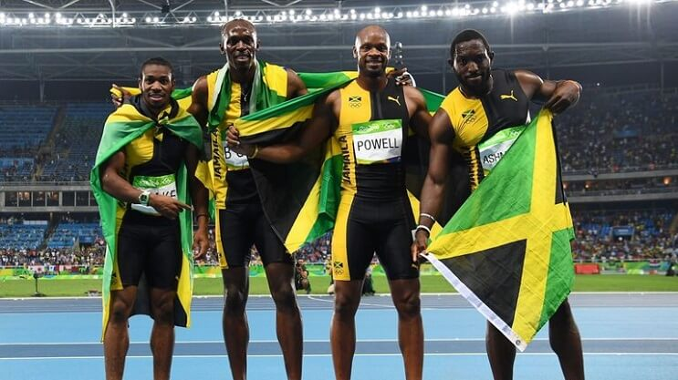 Usain Bolt y Asafa Powell