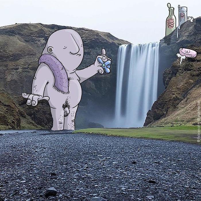 bañarse cascada