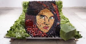 Una artista lituana crea cuadros que se pueden comer