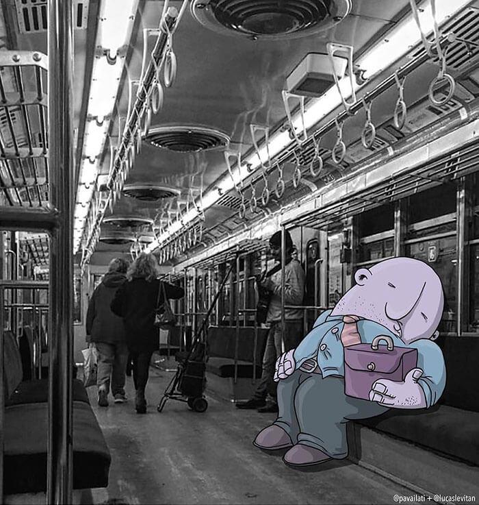 dormir en el metr