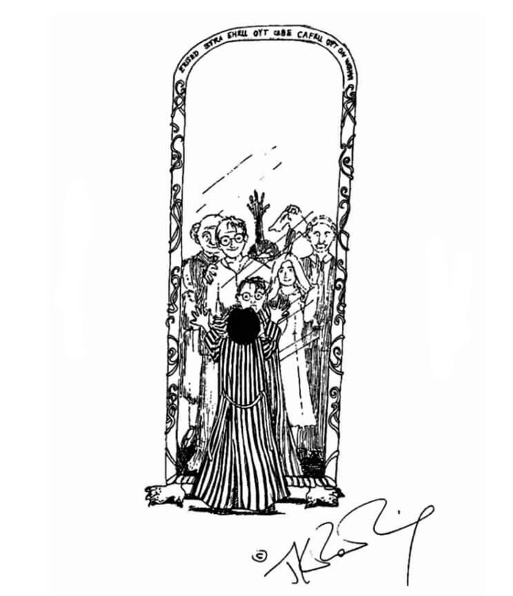 el espejo harry potter
