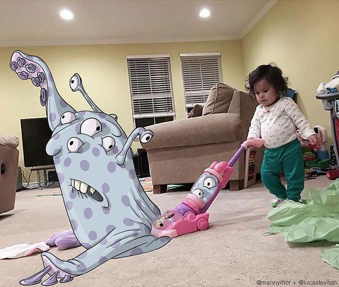 limpieza casa niña
