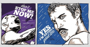 70 años del nacimiento de Freddie Mercury con una gran ilustración de una exitosa canción