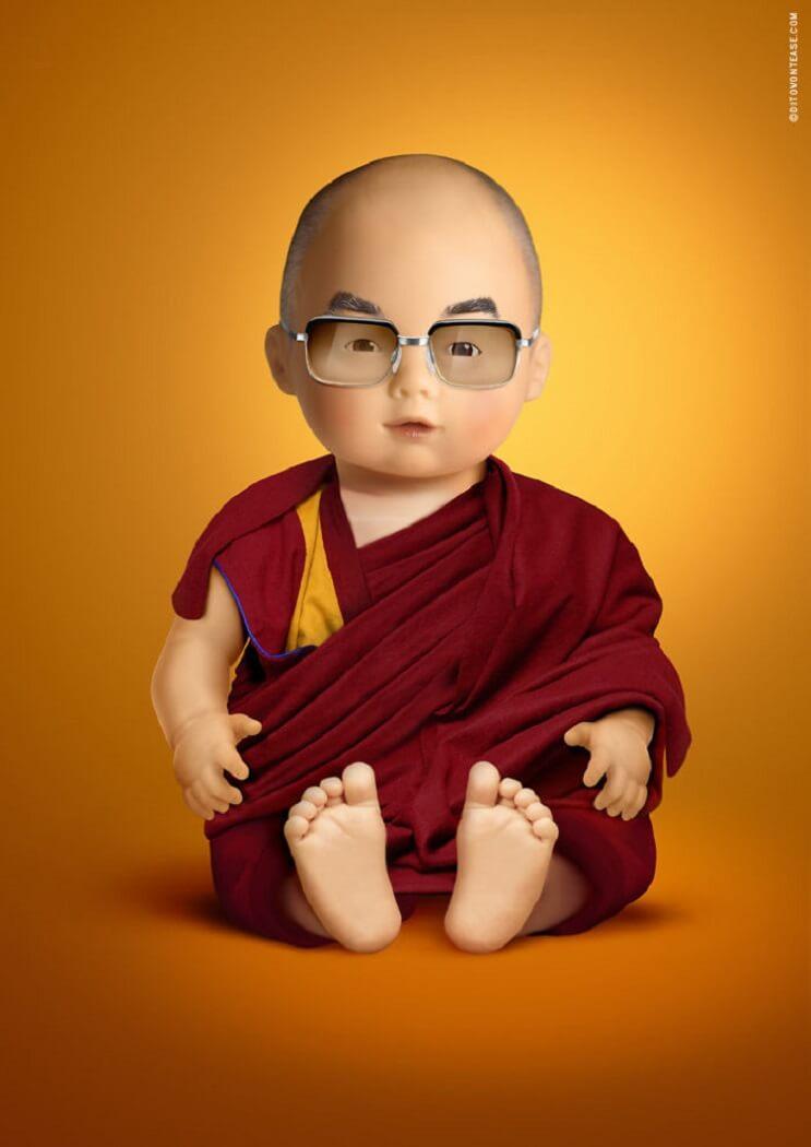 artista-italiano-hace-la-recreacion-de-idolos-contemporaneos-en-munecos-dalai-lama