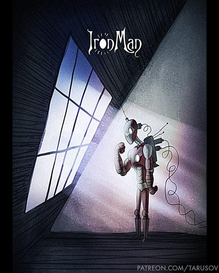 asi-se-verian-los-superheroes-de-hoy-si-hubieran-sido-hechos-por-tim-burton-ironman