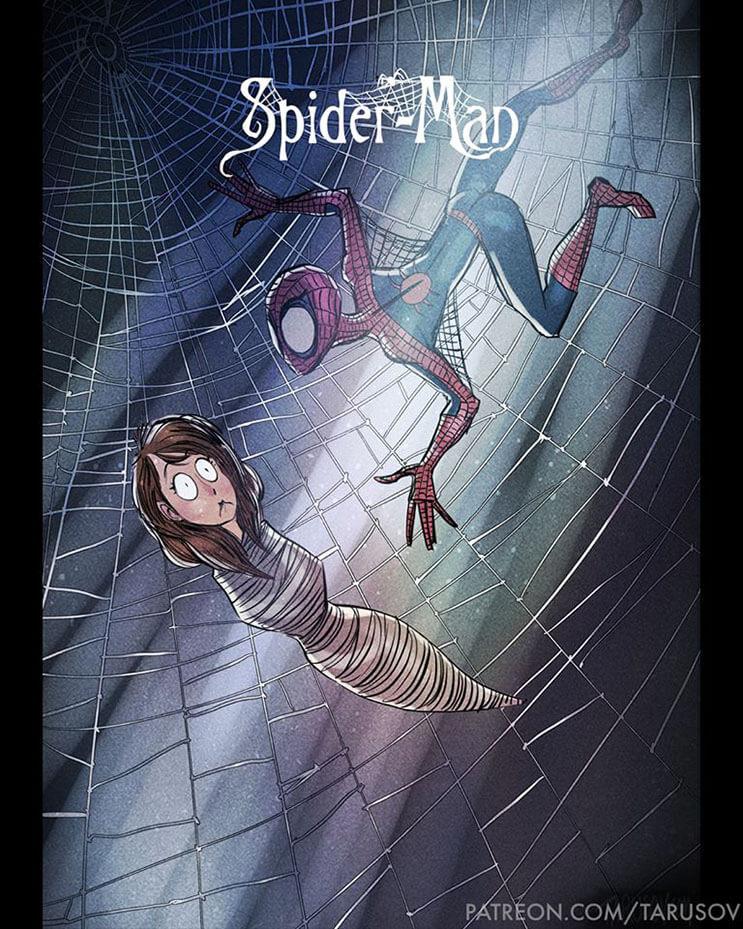 asi-se-verian-los-superheroes-de-hoy-si-hubieran-sido-hechos-por-tim-burton-spiderman