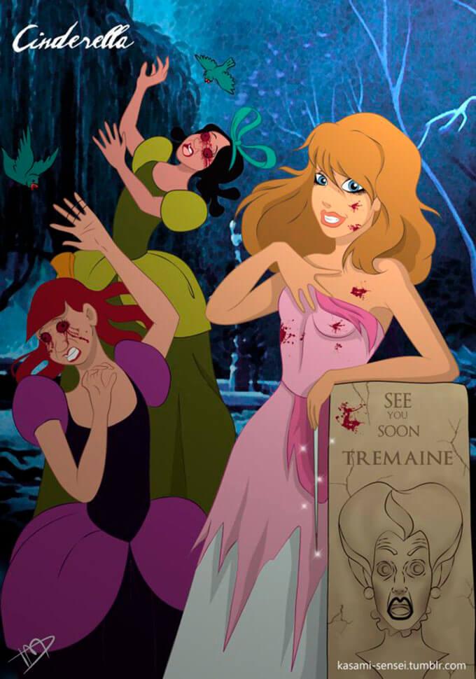 cuando-las-princesas-de-disney-sacan-su-lado-mas-oscuro-kasami-sensei-cinderella