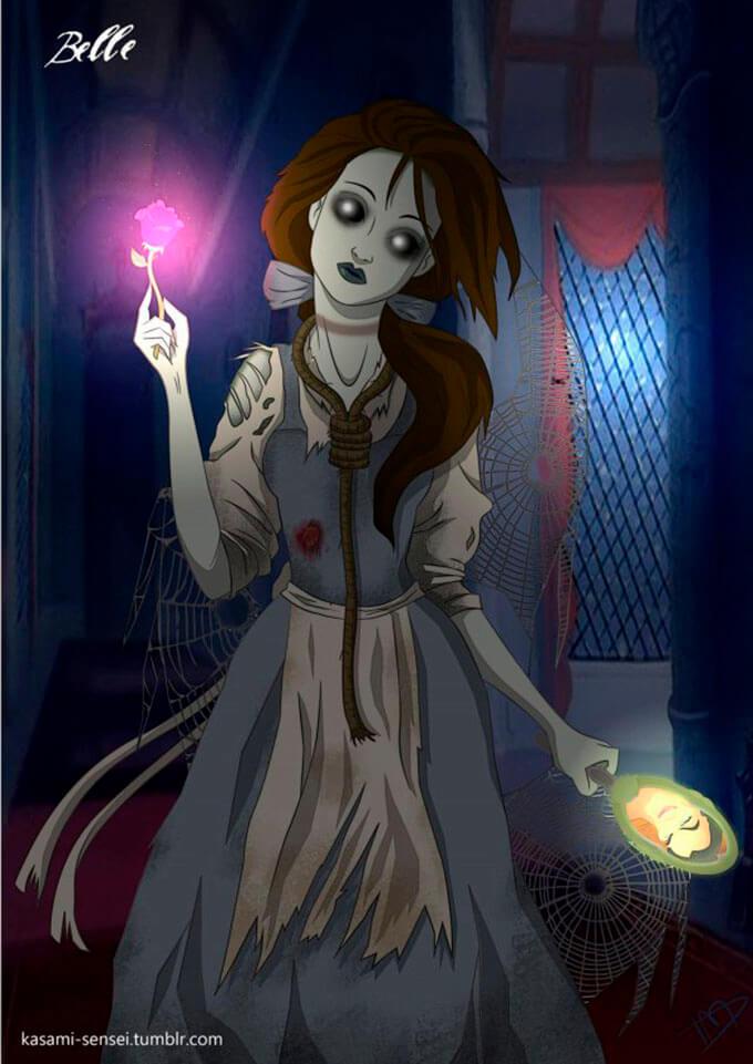 cuando-las-princesas-de-disney-sacan-su-lado-mas-oscuro-kasami-sensei-la-bella