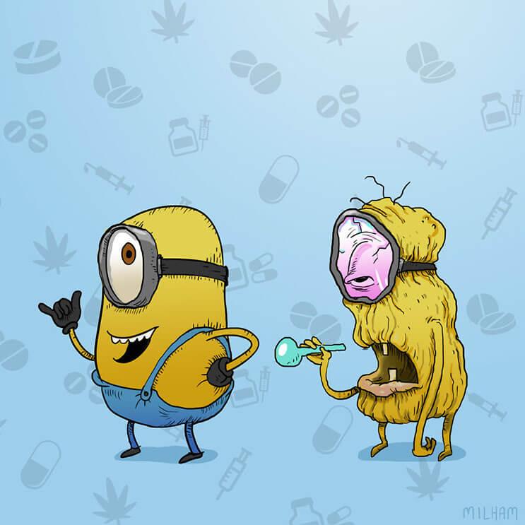 Cuando los dibujos animados se meten en el mundo de las drogas 9