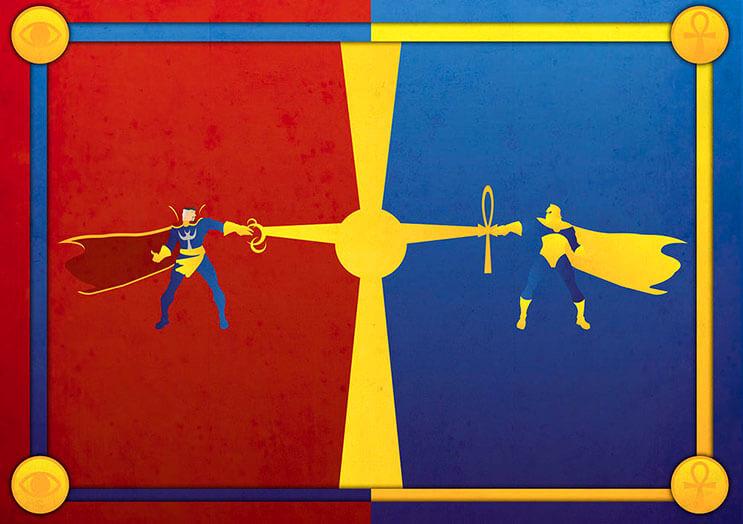 Cuando los superhéroes de Marvel y DC se enfrentan entre ellos 11