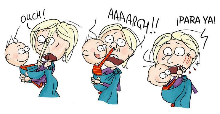 Divertidos cómics que nos muestran los goces de la maternidad
