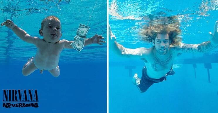 El bebé de Nirvana vuelve a recrear la carátula de Nevermind, 25 años después