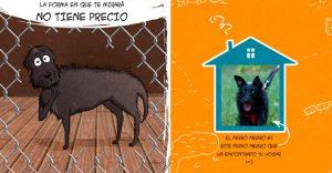 Emotiva ilustración nos muestra la importancia de la adopción de animales
