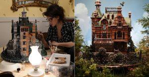 Esta casa se puede comer y es una réplica de la presentada en la última película de Tim Burton