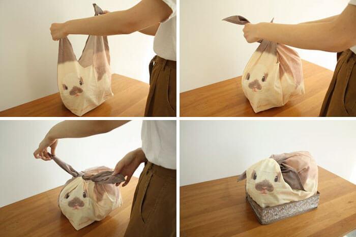 Estas bolsas se convierten con todo lo que guardes en ellas en conejos 02