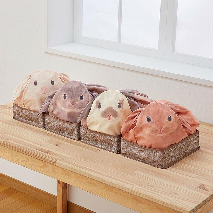 Estas bolsas se convierten con todo lo que guardes en ellas en conejos 07