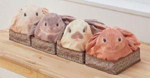 Estas bolsas se convierten con todo lo que guardes en ellas, en conejos