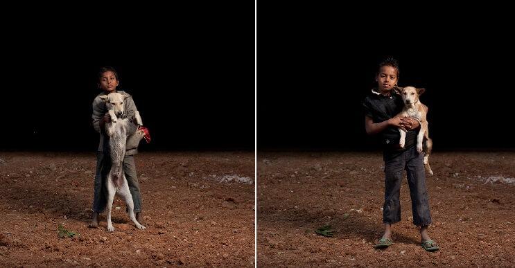 Estas fotos de niños callejeros con sus perros nos muestran una gran lección