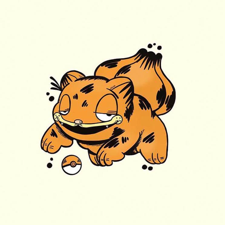 este-artista-decidio-dibujar-a-los-pokemon-como-si-fueran-garfield-de-una-divertida-manera-2