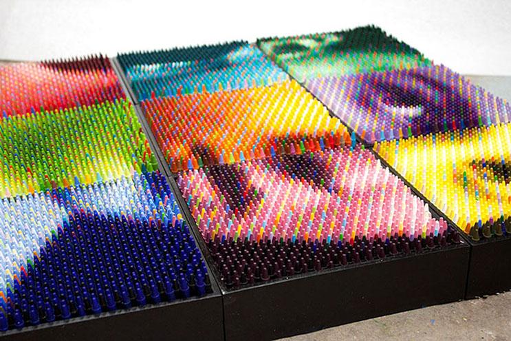Este artista supo hacer algo con los crayones que a nadie se le hubiera ocurrido 3