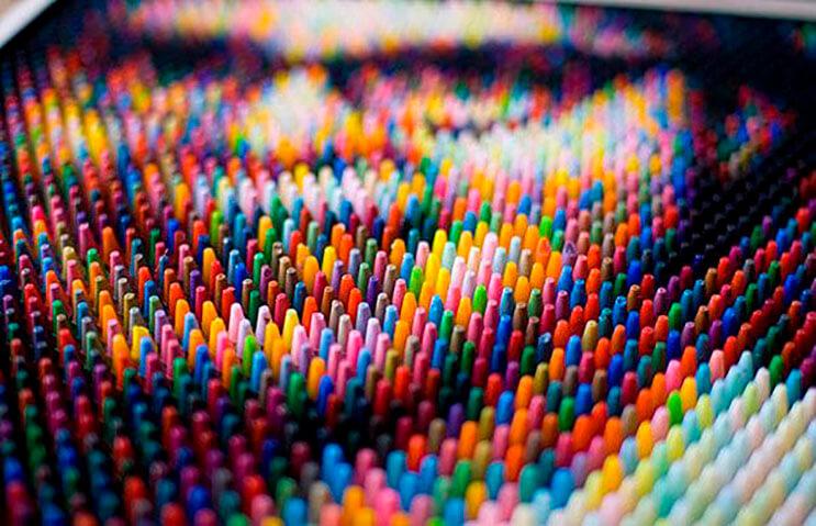 Este artista supo hacer algo con los crayones que a nadie se le hubiera ocurrido 4