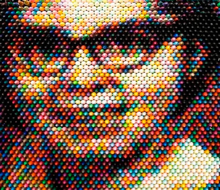Este artista supo hacer algo con los crayones que a nadie se le hubiera ocurrido 5