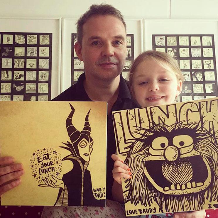 este-padre-demuestra-cuanto-ama-a-su-hija-haciendole-dibujos-todos-los-dias