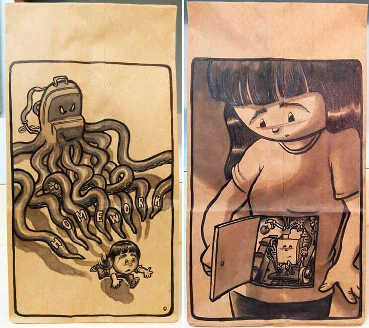 los-almuerzos-de-estos-ninos-son-de-los-mas-genial-gracias-a-estas-bolsas-hechas-por-papa-2