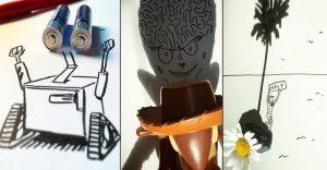 Los creativos doodles en base a sombras de Vincent Bal