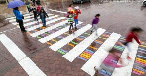 Madrid convierte sus cruces peatonales en coloridas obras de arte