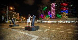 Un Tetris gigante sorprende al público en Tel Aviv