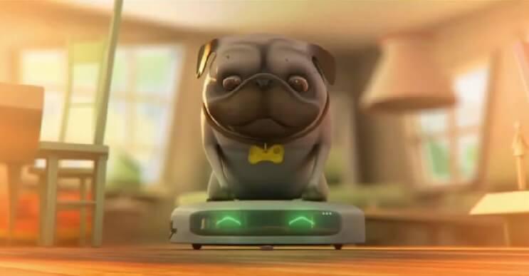 Un corto animado que nos muestra las aventuras de un perro y la nueva aspiradora de la casa