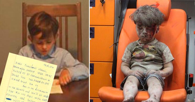 Un niño quiere que Omran vaya a vivir a su casa y la carta que le escribió a Obama se ha vuelto viral
