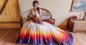 Una alternativa inusual a los tradicionales vestidos de novia